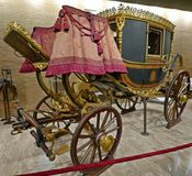 Gala Berlin pope carriage. A 'Gala Berlin' carriage, made around 1825 during the pontificate of Pope Leo XII Stock Photos