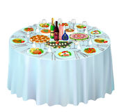 Gala buffet served on white Stock Image
