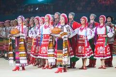 Gala Concert au championnat du monde de gymnastique rythmique Image libre de droits