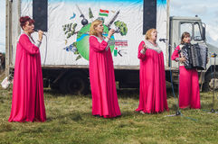 Gala concert in honor of the 536 th anniversary of the liberation of Russia from Mongol-Tatar yoke in the Kaluga region. Reconstruction of military operations stock photos
