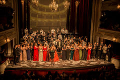 Gala Concert at National Theater in Belgrade stock images