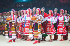 Gala Concert no campeonato mundial da ginástica rítmica Imagem de Stock Royalty Free