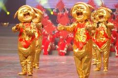 Gala d'or de festival de printemps du porcelet dances-2007 Jiangxi photos stock