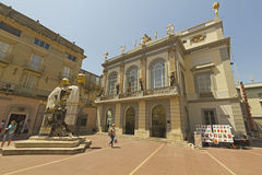 Gala and Dali square, Figueres, Spain Stock Photos