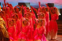 Gala de festival de printemps d'amour et de dévouement dance-2007 Jiangxi Photos stock