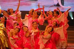 Gala de festival de printemps d'amour et de dévouement dance-2007 Jiangxi Images libres de droits