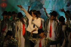Gala de festival de printemps du bruit singer-2007 Jiangxi photos stock