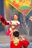 Gala de festival de printemps du ressort girl-2007 Jiangxi photographie stock
