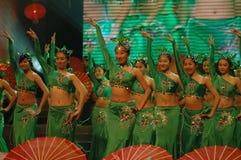 Gala de festival de printemps du thé vert girl-2007 Jiangxi image libre de droits