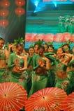 Gala de festival de printemps du thé vert girl-2007 Jiangxi photographie stock libre de droits