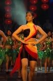 Gala de festival de printemps de l'aérobic performance-2007 Jiangxi photo stock