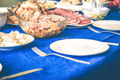 Gala Dinner feast meat hunger dainty Royalty Free Stock Images