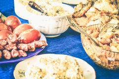 Gala Dinner feast meat hunger dainty Stock Photos