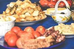 Gala Dinner-sierlijke de honger van het feestvlees stock foto
