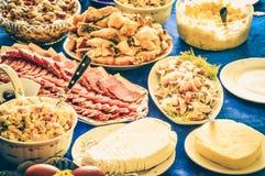 Gala Dinner-sierlijke de honger van het feestvlees royalty-vrije stock foto's