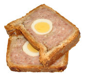 Gala Pork Pie Slices Stock Image