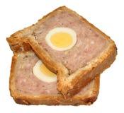 Gala Pork Pie Slices Stock Image
