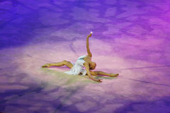 Gala Show-Sterne von Weltgymnastik Yana Kudryavtseva (Russland) Stockfoto