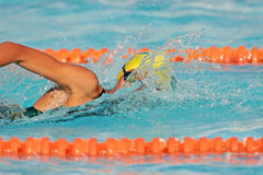 Gala swimmer royalty free stock photos