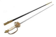 Gala sword (rapier) of Vatican guard. Stock Photo