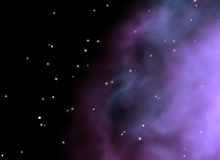Galactic background. 3D rendered starry galactic background stock illustration