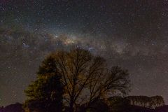 Galactic Centre with Mars. The milky way seen from Lake Tarawera stock photos