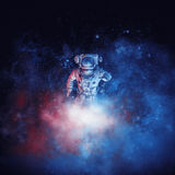 Galactic cloud astronaut Stock Images