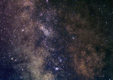Galactic gems. Image of the Milky Way towards south (Sagittarius constellation royalty free stock photos