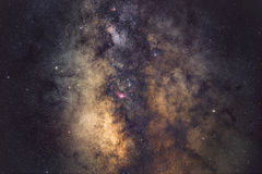 Galactic Gems. A detailed view towards the center of our galaxy, Milky Way royalty free stock photography