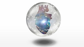 Galactic Heart. Enclosed inside sphere Stock Images