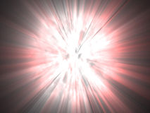 Galactic red and white very bright explosion Royalty Free Stock Images