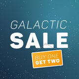 Galactic sale illustration. Stock Images