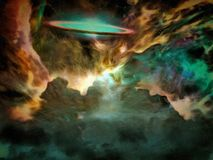 Galactic Scene. Filled with nebolous gasses Royalty Free Stock Photo