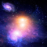 Galactic Space. Very Colorful Galactic Space Abstract Royalty Free Stock Photos