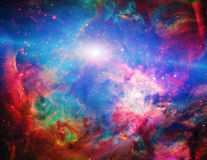 Galactic Space. Elements of this image furnished by NASA Royalty Free Stock Image