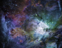 Galactic Space. Elements of this image furnished by NASA Royalty Free Stock Photos