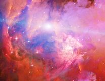 Galactic Space. Elements of this image furnished by NASA royalty free illustration