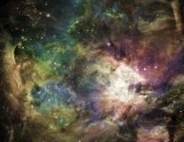 Galactic Space. Elements of this image furnished by NASA vector illustration