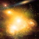 Galactic Space. Some elements image credit NASA royalty free illustration
