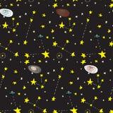 Galactisch Naadloos Patroon vector illustratie