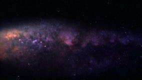 Galactische vlucht stock videobeelden