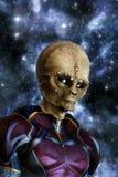 Galactische vreemdeling Stock Afbeeldingen