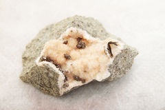 Galactite and calcite Stock Photography