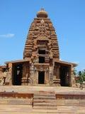 Galaganatha tempel, Pattadakal, Karnataka, Indien Arkivbilder