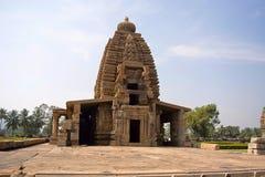 Galaganatha-Tempelfront faï ¿ ½ ade, Pattadakal, Karnataka Stockfoto