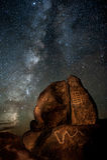 Galaktische Petroglyphen Stockfotografie