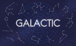Galaktisches Atmosphären-Kosmos-Energie-Erforschungs-Konzept lizenzfreie abbildung