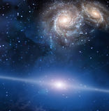 galaktisktt avstånd royaltyfri illustrationer