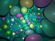 galaktisktt fractal royaltyfri illustrationer
