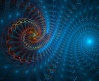 galaktisktt fractal stock illustrationer